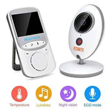 Video Baby Monitor, Fitnate Wireless Baby Monitor with Digital Camera, Night Vision Temperature Monitoring & 2...