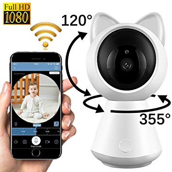 Wireless IP camera Baby monitor with camera 1080P HD WiFi Security Surveillance Camera with Night Vision...