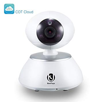 WallyGadgets Wireless IP Camera, 2.4GHZ 720P Home Security Surveillance Camera with Two Way...