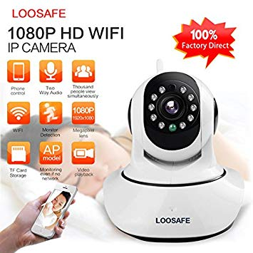 Loosafe Wi-fi IP Camera Best Baby Monitor Best Nanny Cam 1080p Quality Wireless Surveillance and Security...