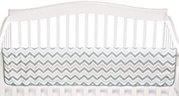 American Baby Company ZZ Crib Rail Cover, Blue (Discontinued by Manufacturer)